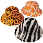 Wild Animal Print Safari Hats Carnival Prize